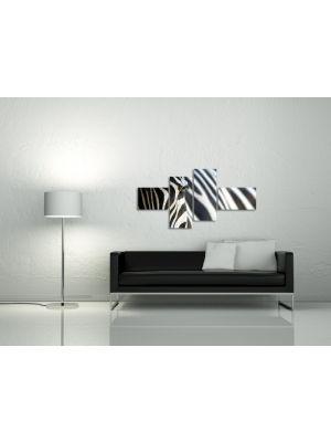 Zebra - 150x80cm 4 delig - ingelijst