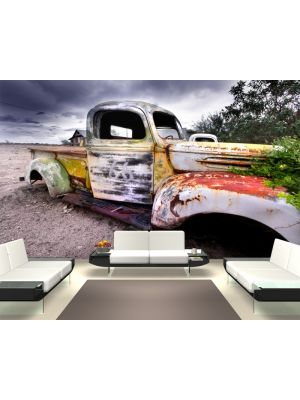 Foto behang Oude verroeste truck