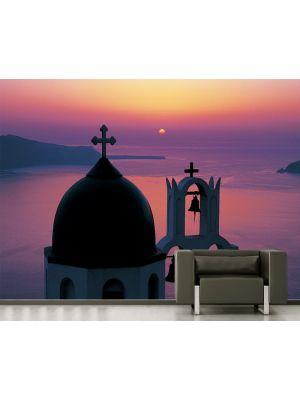Foto behang Santorini