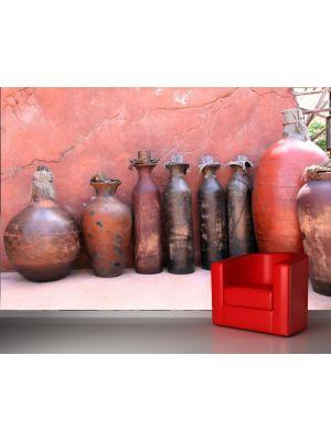 Foto behang Mediterraanse vazen voorbeeld kleur