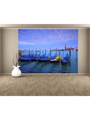 Foto behang Gondels in Venetie voorbeeld kleur
