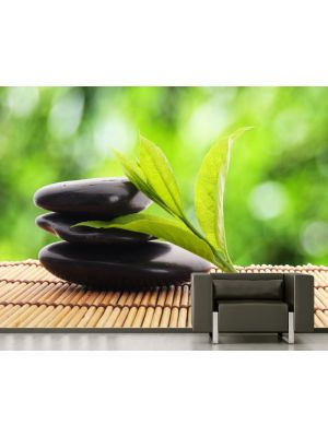 Foto behang Zen stenen II voorbeeld kleur