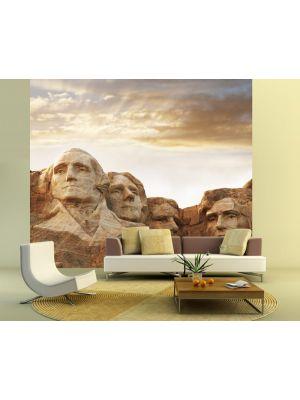 Foto behang Mount Rushmore South Dakota USA voorbeeld kleur