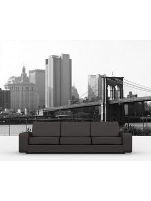 Foto behang New York zwart wit voorbeeld