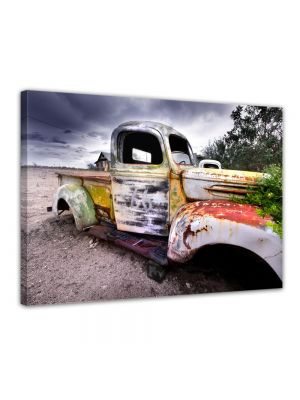 Oude verroeste truck - Foto print op canvas