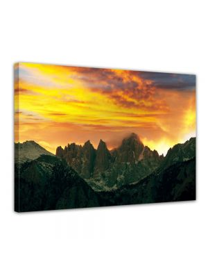 Haleakala Vulkaan bij zonsondergang - Foto print op canvas