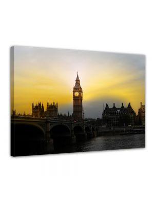 Big Ben London UK II - Foto print op canvas