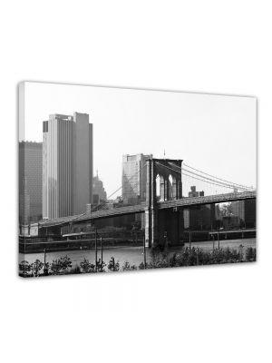 Brooklyn Bridge New York City - Foto print op canvas