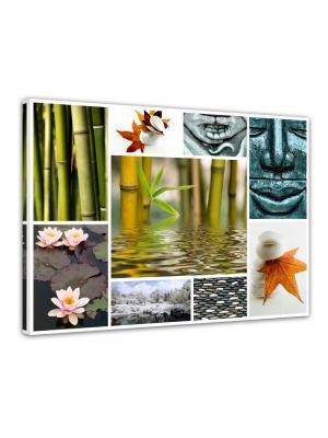 Buddha Collage - Foto print op canvas langwerpige canvas