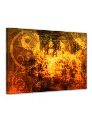 Buddha Urban - Foto print op canvas