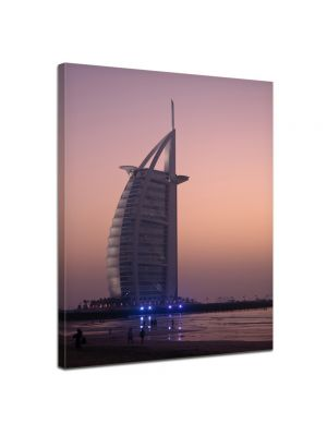 Burj al Arab Hotel in Dubai - Foto print op canvas