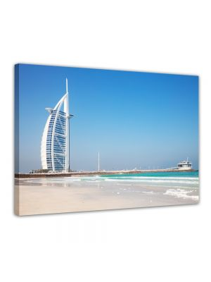 Burj al Arab Hotel in Dubai II - Foto print op canvas