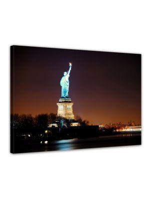 Vrijheidsbeeld (statue of liberty), New York City - Foto print op canvas