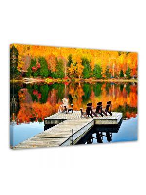 Herfst landschap - Foto print op canvas