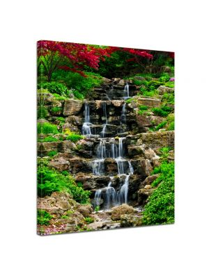 Kleine waterval - Foto print op canvas