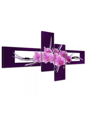 Abstracte kunst Orchidee - 200x90cm 4 delig