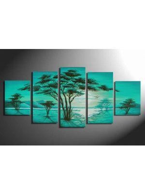 Landschappen handgeschilderde canvas 150x70cm