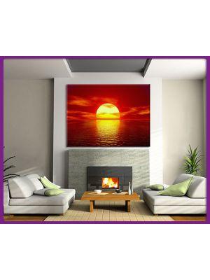 Canvas Zon zons ondergang rood voorbeeld