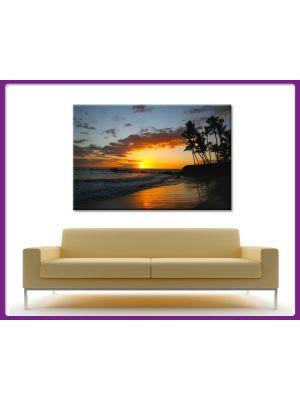 Canvas print Caribische zonsondergang