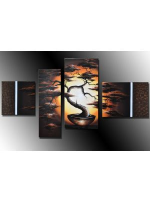 Boom 1 - 4 delig canvas 120x70cm Handgeschilderd