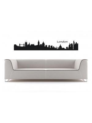 Muursticker skyline Londen