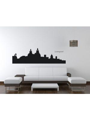 Muursticker skyline Liverpool