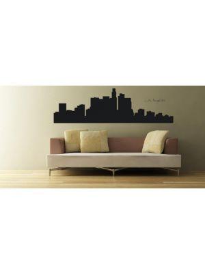 Muursticker skyline Los Angeles