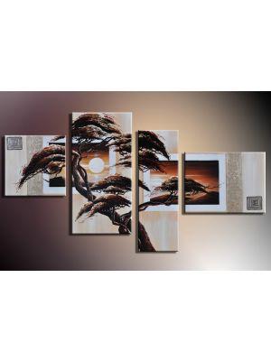 Boom 5 - 4 delig canvas 120x70cm Handgeschilderd