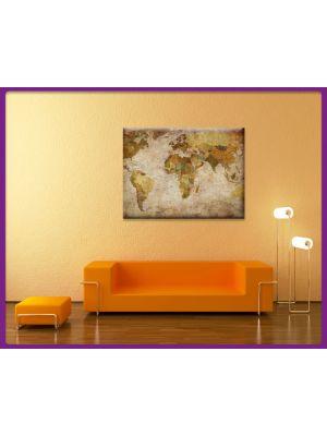 Wereldkaart canvas print