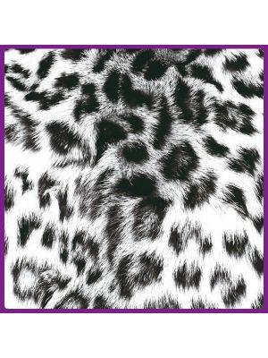 Foto print op canvas Luipaarden vel - Wit
