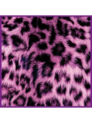 Foto print op canvas Luipaarden vel - Roze
