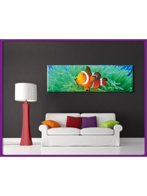 Foto print op canvas Panorama Clownvis - Nemo