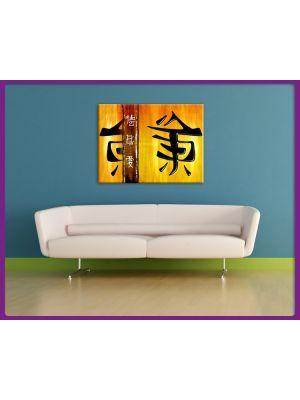 Foto print op canvas Chineze tekens