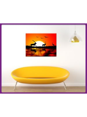 Foto print op canvas Gazellen