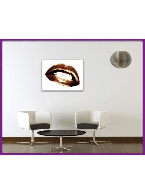 Foto print op canvas Lippen Sepia