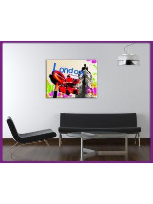 Foto print op canvas London Pixel