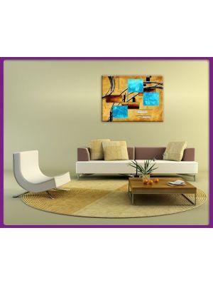 Foto print op canvas Modern Art - Vormen en lijnen 2