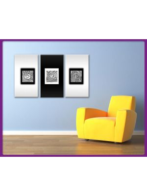 Foto print op canvas Moderne Kunst in Zwart/Wit