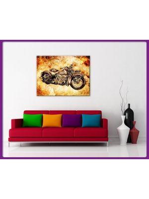 Foto print op canvas Motor - Vintage