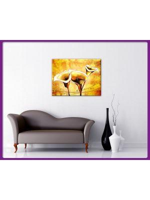 Foto print op canvas Witte kelken bloemen