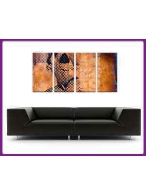 Foto print op canvas Stripping Woman - 4 delig