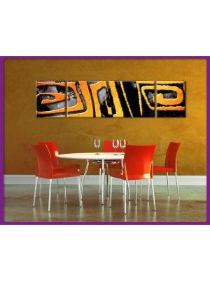 Foto print op canvas Kunst vormen - 3 delig
