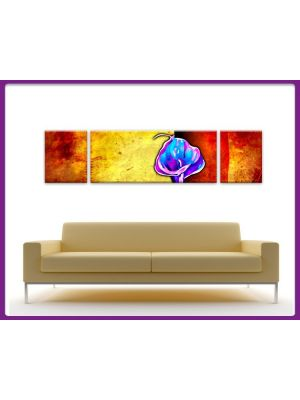 Foto print op canvas Moderne Kunst Bloemen - 3 delig