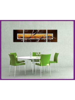 Foto print op canvas Kunst in aarde kleuren 2 - 3 delig