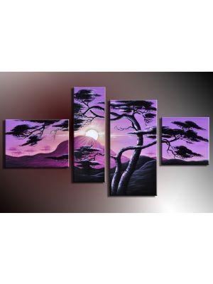 Boom 9 - 4 delig canvas 120x70cm Handgeschilderd