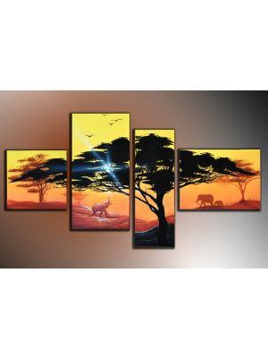 Boom 2 - 4 delig canvas 120x70cm Handgeschilderd