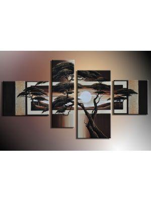 Boom 4 - 4 delig canvas 120x70cm Handgeschilderd
