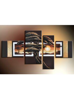 Boom 6 - 4 delig canvas 120x70cm Handgeschilderd