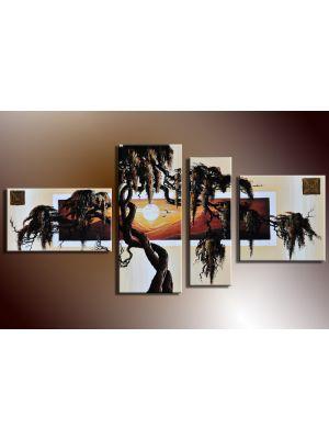 Boom 4 - 4 delig canvas 140x80cm Handgeschilderd