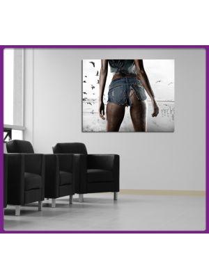 Foto print op canvas Billen Sexy Model II Zwart-wit